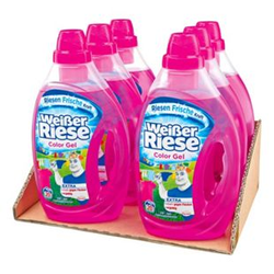 Weißer Riese Colorwaschmittel Gel 20 WL, 6er Pack