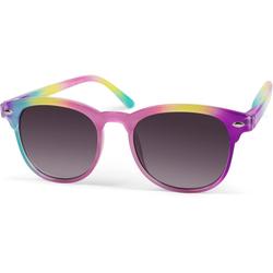 styleBREAKER Sonnenbrille Kinder Nerd Sonnenbrille in Regenbogen Farben Getönt