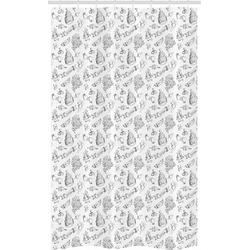 Abakuhaus Duschvorhang Badezimmer Deko Set aus Stoff mit Haken Breite 120 cm, Höhe 180 cm, Hochzeit Blumen-Blumenstrauß-Kuchen