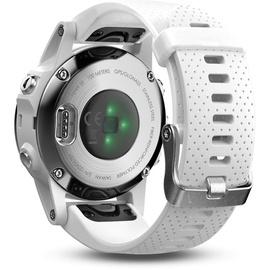 Garmin fenix 5S silber mit weißem Armband
