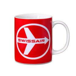 LOGOSHIRT Tasse mit Airline-Print Fly There By Swissair bunt