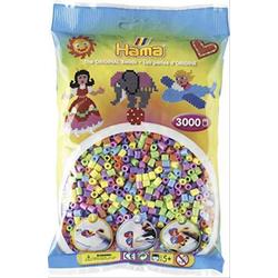 HAMA Bügelperlen Midi - Pastell Mix 3000 Perlen (6 Farben) 201-50