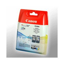 2 Canon Druckköpfe 2970B010  PG-510+CL-511  4-farbig