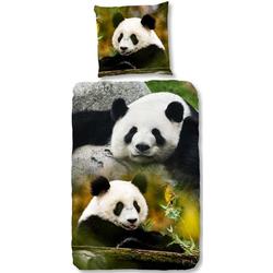 Kinderbettwäsche Sammy, good morning, mit Pandabären