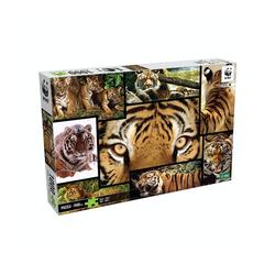 WWF Steckpuzzle WWF Puzzle Tiger (1000 Teile), 1000 Puzzleteile