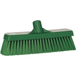 Vikan Besen, 300 mm medium, speziell zum Kehren in feuchten Bereichen, Farbe: grün