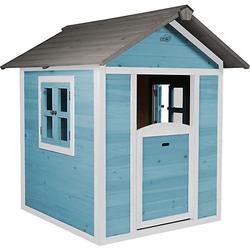 Spielhaus (Caribean blue) blau/weiß