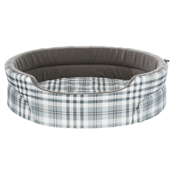Trixie Bett Lucky grau/weiß für Hunde, Maße: 75 x 65 cm