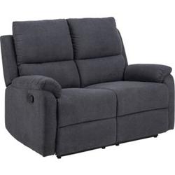 Sabel Sofa 2 Sitzer Recliner grau Wohnlandschaft Wohnzimmer Couch Wohnzimmersofa