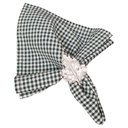 Stoffserviette, Textil Stoff Serviette grün kariert 45x45 cm, matches21 HOME & HOBBY grün