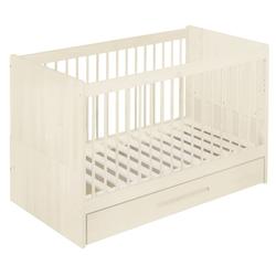 BioKinder - Das gesunde Kinderzimmer Babybett Lina, 70x140 cm mit Bettkasten weiß