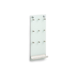 HTI-Living Schlüsselbrett Schlüsselboard Glas/Edelstahl