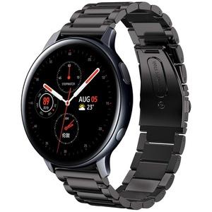 SUNDAREE Kompatibel mit Galaxy Watch Active 2 40MM 44MM Armband,20MM Schwarz Metallarmband Edelstahl Uhrenarmband Ersatz für Samsung Galaxy Watch 4 40MM 44MM/Watch4 Classic 42 46/Huawei Watch GT 2 42