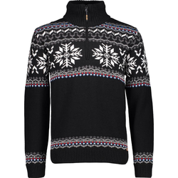 CMP Knitted Pullover Men nero