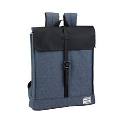 safta Freizeitrucksack Messenger Rucksack BlackFit8 Black & Grey blau