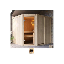 Karibu Sauna Henrika, BxTxH: 231 x 196 x 198 cm, 68 mm, ohne Ofen