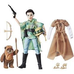 Hasbro Actionfigur Star Wars Leia mit Ewok