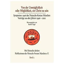 Von der Unmöglichkeit oder Möglichkeit  ein Christ zu sein - Buch