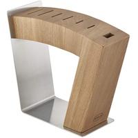 Rösle Messerblock MoveX, Design-Messerblock aus Edelstahl und Ulmenholz, sichtbare Klingen, zwei Standpositionen, standfest, unbestückt