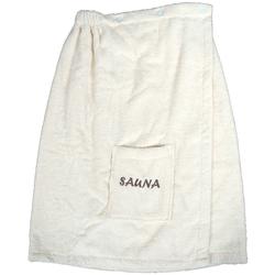 Sarong Opal, Dyckhoff, mit Sauna-Schriftzug natur