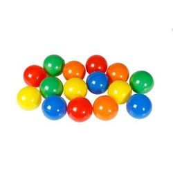 Bällebad Bälle für Hundepool Doggy Pool, 250 Stk, farblich sortiert