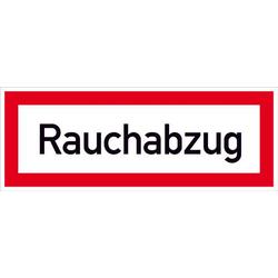 Hinweisschild Rauchabzug (RWA) Aluminium (B x H) 148mm x 52mm 1St.