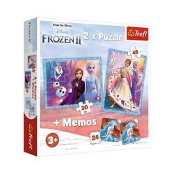 Trefl Puzzle 2in1 Puzzle + memo - A mysterious land - Disney, Puzzleteile
