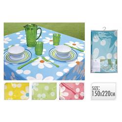 Tischdecke abwischbar mit Blumenmotiv - versch. Farben