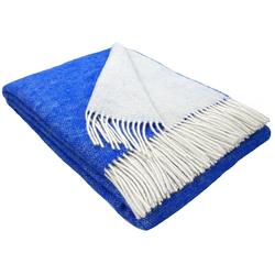 Wolldecke Wolldecke TIROL (doubleface) aus 100% Schurwolle, STTS blau