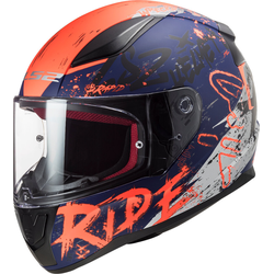 LS2 FF353 Rapid Naughty Helm, rot-blau, Größe L