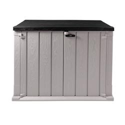 ONDIS24 Mülltonnenbox Storer Basic für 2x 120 Liter Mülltonnen 842 Liter 130 x 75 x 111 cm, abschließbar grau