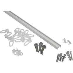Gardinenschiene Aluminiumschiene, GARDINIA, (1-St), Serie Aluminiumschiene Ø 13 mm weiß Ø 1,3 cm x 210 cm