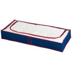 WENKO Unterbettkommode WENKO Unterbettkommode Blau-Rot, 4er Set blau