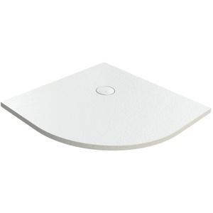 Hoesch Tierra Viertelkreisduschwanne 900 x 900 mm (550 mm Radius) - Weiß - 4332xA.010