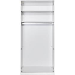 Loddenkemper Drehtürenschrank Malibu 2 türig grau 102 cm x 238,9 cm x 59,5 cm