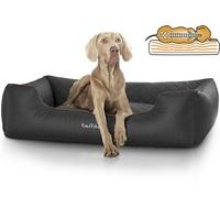 Knuffelwuff orthopädisches Hundebett Madison 85 x 120 cm schwarz