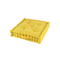 One Home Sitzkissen solid, Bodenkissen mit Tragegriff gelb