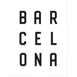 Poster Typographie Barcelona