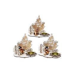SIGRO Teelichthalter Teelichthalter mit Schneemannfigur