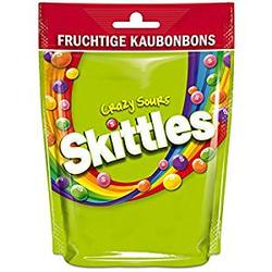Skittles Crazy Sours saure Kaudragees mit knuspriger Zuckerhülle