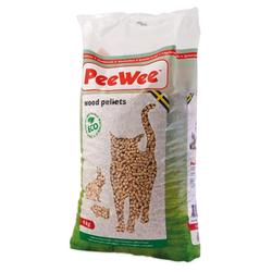 PeeWee Katzenstreu Holzstreu für PeeWee Katzentoilette 9 KG / 14 L