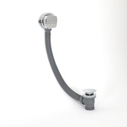 Ab- und Überlaufgarnitur mit Füllfunktion für Badewannen Chrom - Kubix