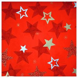 STAR Geschenkpapier, Geschenkpapier Sterne 70cm x 2m, Rolle