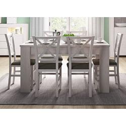 Feldmann-Wohnen Esstisch RENE (Tisch), B/T/H: 140 - 180 cm x 80 cm x 75 cm weiß