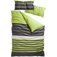 H I S Majoran Linon grün 135 x 200 + 40 x 80 cm