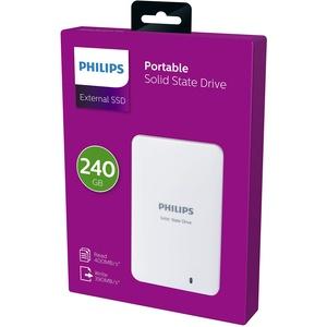 Philips Externe SSD 240 GB/Go, USB 3.0, 400 MB/s - 390 MB/s, weiß