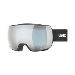 Uvex Skibrille Skibrille Compact FM Black Mat/Silver-Blue schwarz