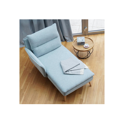 PLACE TO BE. Recamiere, Recamiere Ottomane Chaiselongue Sitzbank Polsterbank Tagesbett Daybed mit Armlehne links blau