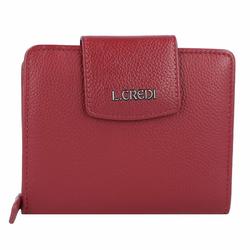 L.Credi Maranello Geldbörse Leder 12,5 cm rot