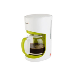 KORONA Filterkaffeemaschine Kaffeemaschine 10503, 12 Tassen Kaffeeautomat / Kaffeemaschine, Glaskanne, 1,5 L, 900 W, Warmhaltefunktion / Warmhalteplatte, Antitropf-Funktion, Filter herrausnehmbar (Größe: 1x4), Wasserstandsanzeige, Abschaltautomatik, Design weiß / grün